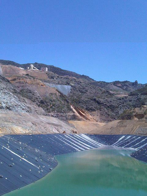 mine tailings pond